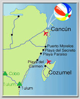 Playa del Secreto Map